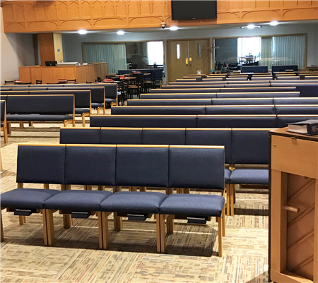 Open Doors deeply appreciates this gift of cushioned seating as a memorial to a beloved family and church member.