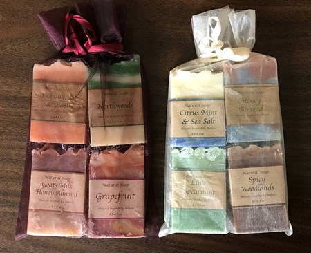 2 sets of four bars each. Donated by Herbal Beauty.