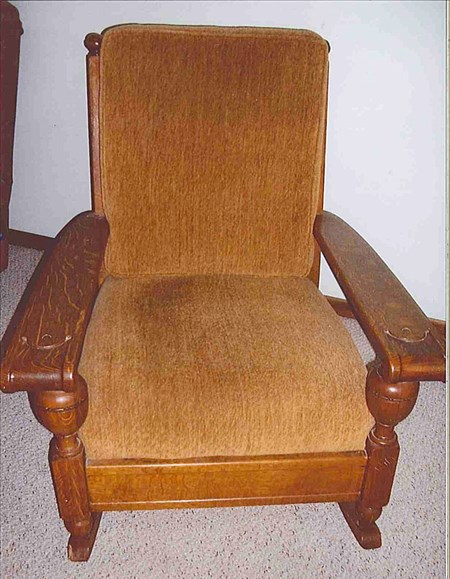 Solidoak. Similar chair found on eBay sold for $539. Dimensions: 31