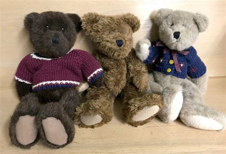 Three collector bears.