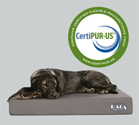 Two sizes: Medium 33x24x4.  Large 40x30x4.  For complete information: https://www.racs.net/products/dog-beds/